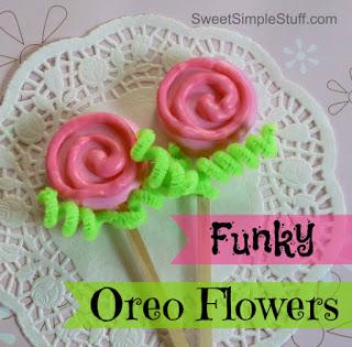 Flower Oreo Cookie Pops