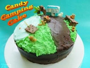 Candy Camping Cake
