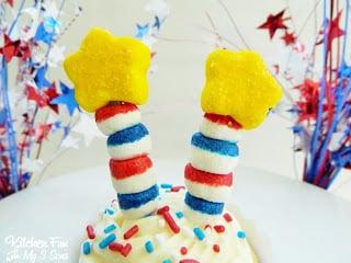 Firecracker Cupcake Close Up