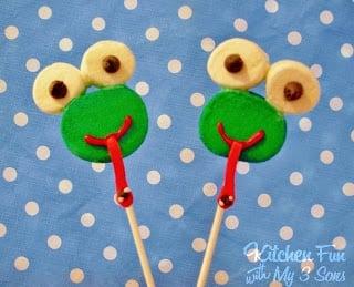 Easy Frog Marshmallow Pops