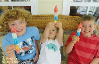 My boys had so much fun making these Popsicle Rockets & playing with them!