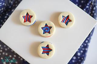 Patriotic Cut Out Cookies