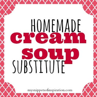 Homemade Cream of Soup Substitute