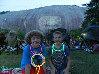 Also including the famous Laser Light Show on the mountain that they have every night during the summer...