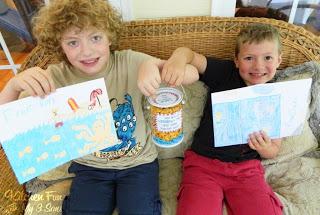 My boys also colored their swim teacher cards