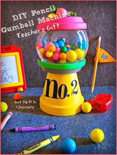 DIY Pencil Gumball Machine Teacher Gift