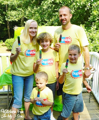 Here is my Popsicle family with our Marvel Heroes Popsicle's