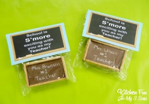 Teacher Appreciation Gift – Chalkboard S'mores with FREE Printable!