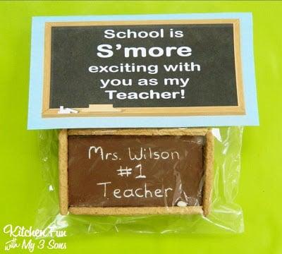 Teacher Appreciation Gift - Chalkboard S'mores