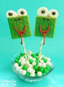 Frog S'mores Pops…Ribbit Ribbit!!