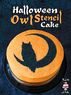 Halloween Stencil Cake