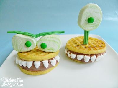 Monster Waffle Ice Cream Sandwich's