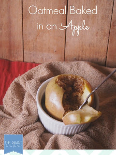 Oatmeal Baked in a Apple