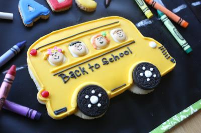 Big Yellow School Bus Cookie