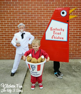 Our 2013 Homemade KFC Kentucky Fried Chicken Costumes!