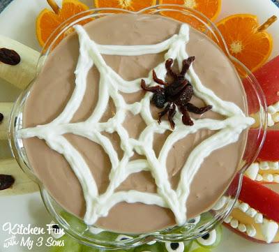 Spider Web Greek Yogurt Dip