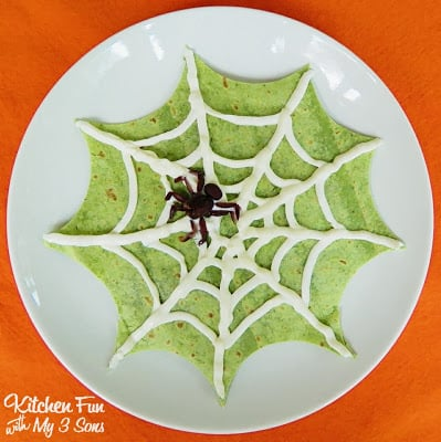 Halloween Spider Web Quesadilla Dinner