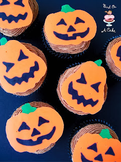 Jack-o-Latern Cupcake Toppers with Template