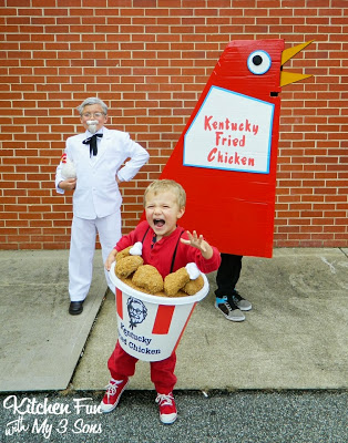 Buckets of chicken can be pretty scary as well for Halloween you know!