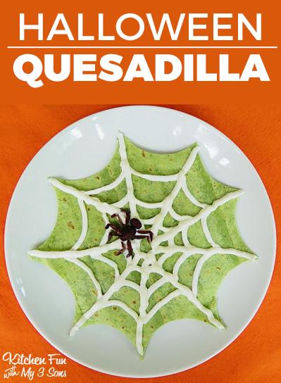 Halloween Spider Quesadilla