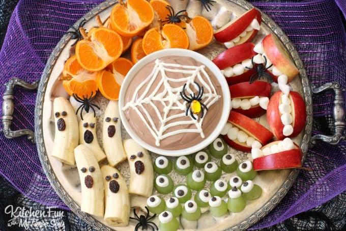 Halloween Greek Yogurt Fruit Dip And Spooky Fruit Snacks