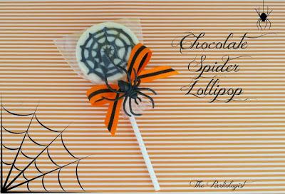 Chocolate Spider Web Lollipops