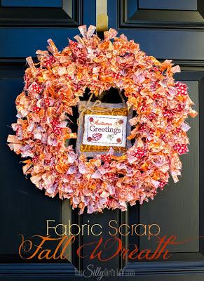 Fabric Scrap Fall Wreath