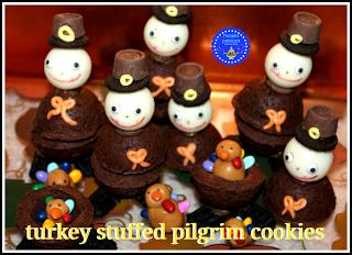 Turkey Stuffed Pilgrim Cookies