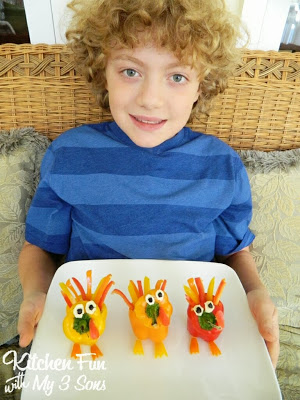 Thanksgiving Turkey Appetizer Sweet Peppers