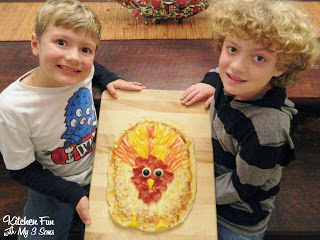 Here are my 2 older boys with their finished Turkey Pizza