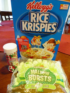 Rice Krispies, Marshmallow Burst and Candy