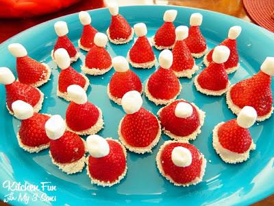 Christmas Fruit Santa Hats