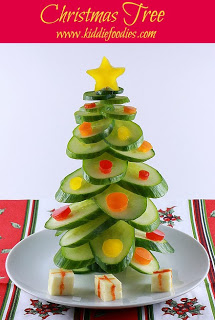 Christmas Cucumber Tree