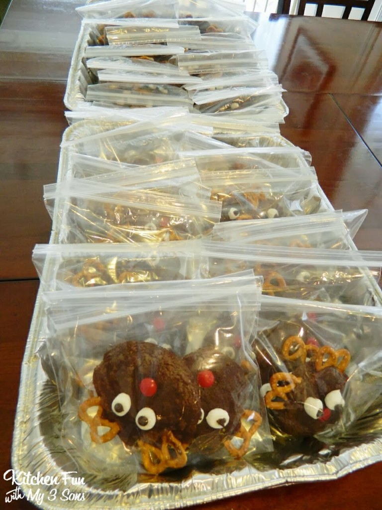 Here are all of our Rudolph Brownie Cookies packed up & ready to go!
