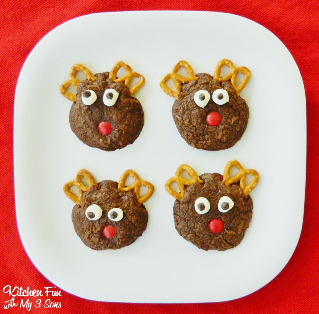 Easy Rudolph Brownie Cookies Kitchen Fun With My 3 Sons