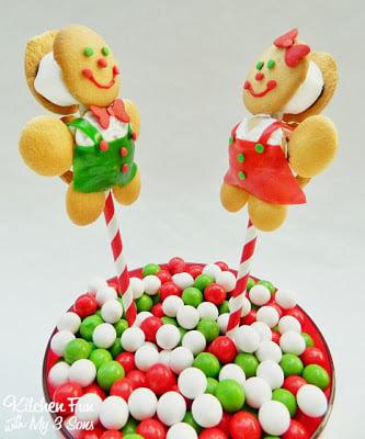No Gingerbread Boy & Girl Cookie Pops