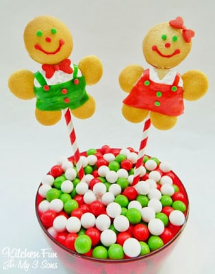 No Gingerbread Boy & Girl Cookie Pops with a BIG Giveaway! - Kitchen ...