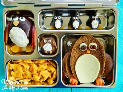 Penguin Bento Lunch in a Planetbox!