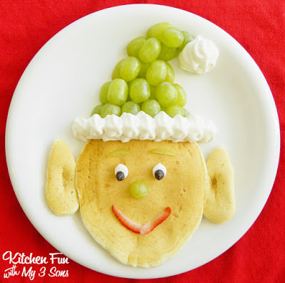 Santa's Elf Pancakes for a fun Christmas Breakfast from KitchenFunWIthMy3Sons.com