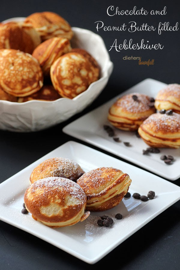 Chocolate Peanut Butter Filled Aebleskiver