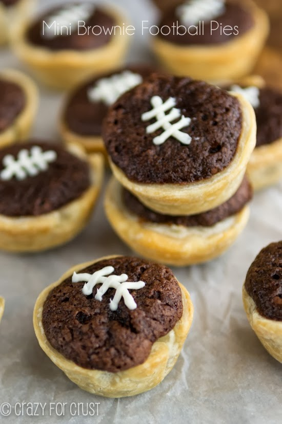 Brownie Football Pies