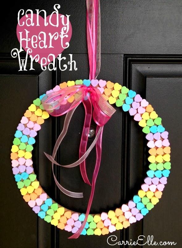 Candy Heart Wreath