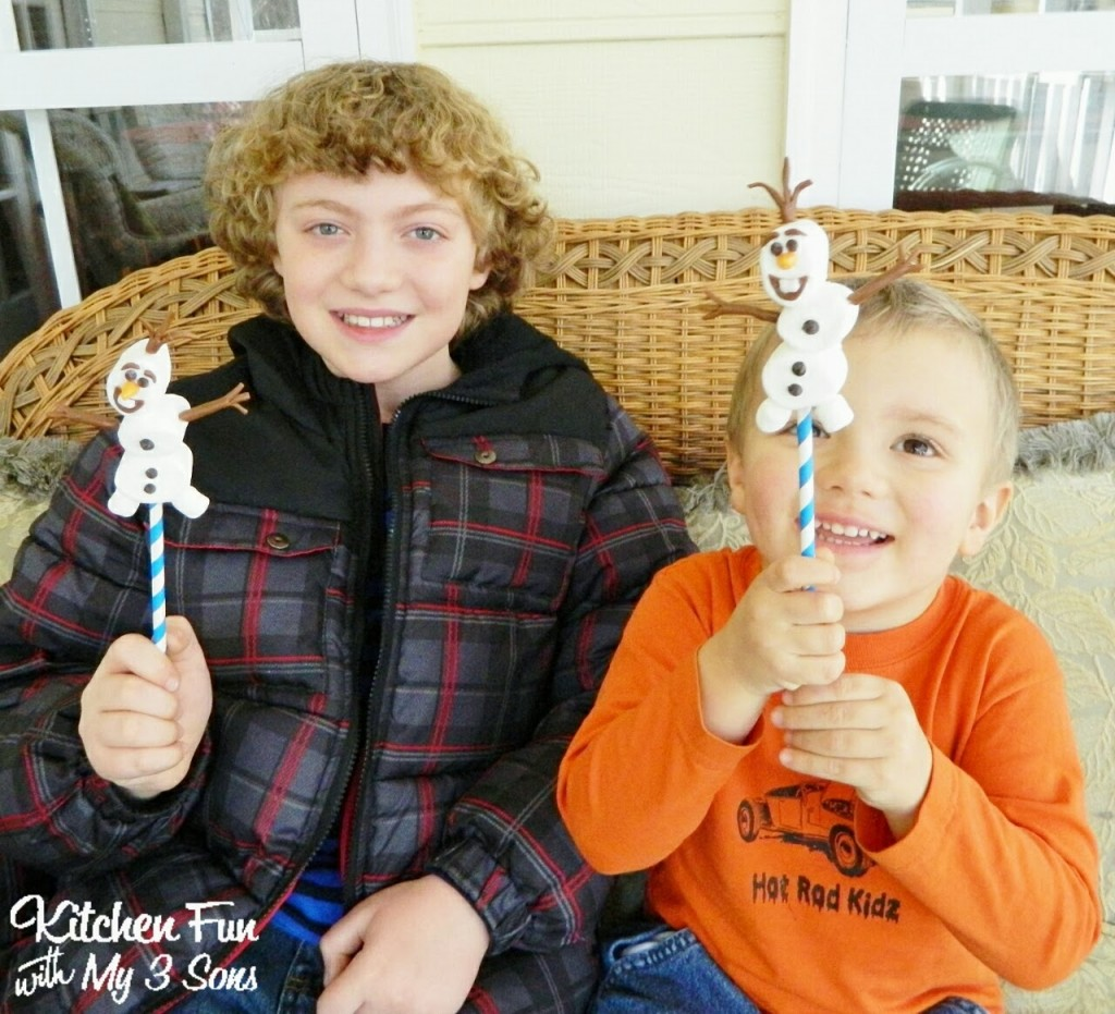 My boys had lots of fun with their Olaf Pops