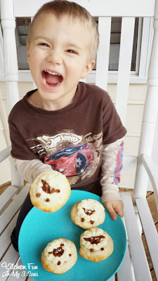 Here is one excited little 3 year old with his Mini Shepherd's Sheep Pie