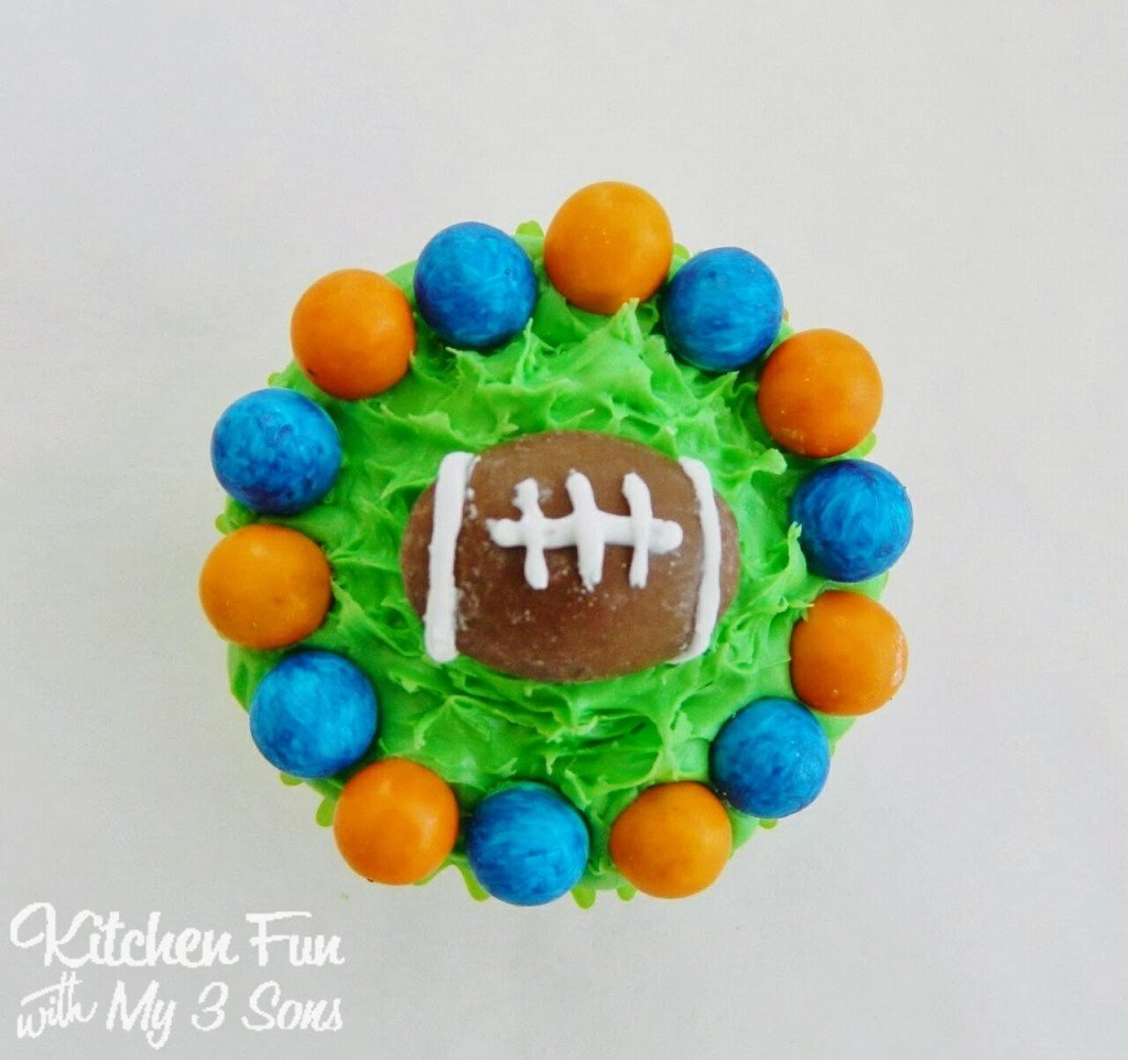 Here is our Denver Broncos Cupcake