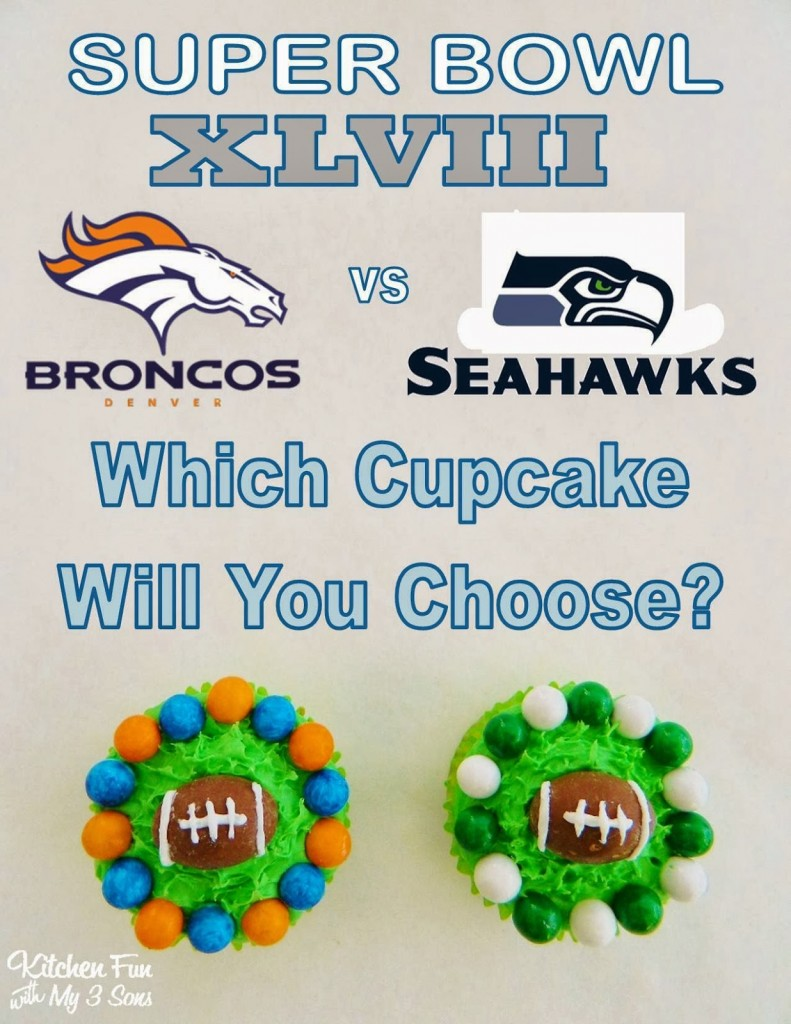 Super Bowl XLVIII Football Cupcakes