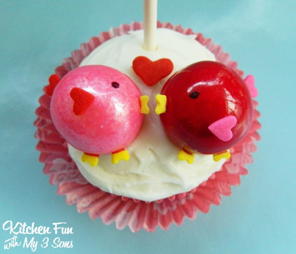 Here is a close up of the Love Birds