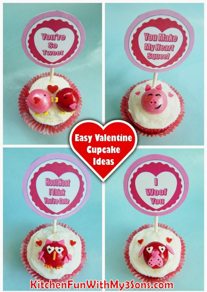 fun & easy Valentine Cupcake ideas