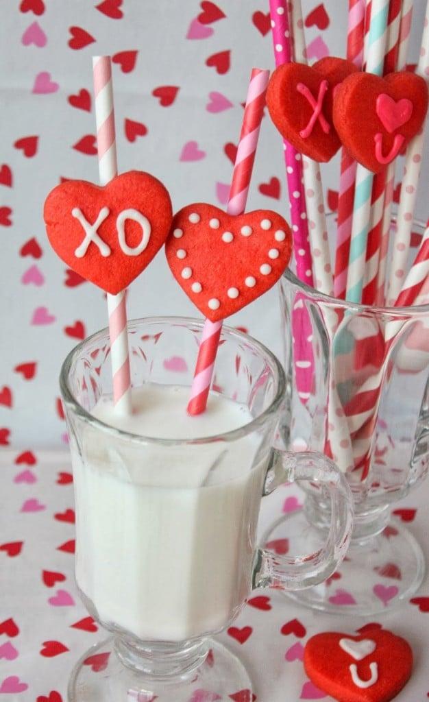 Valentine Cookies & Milk