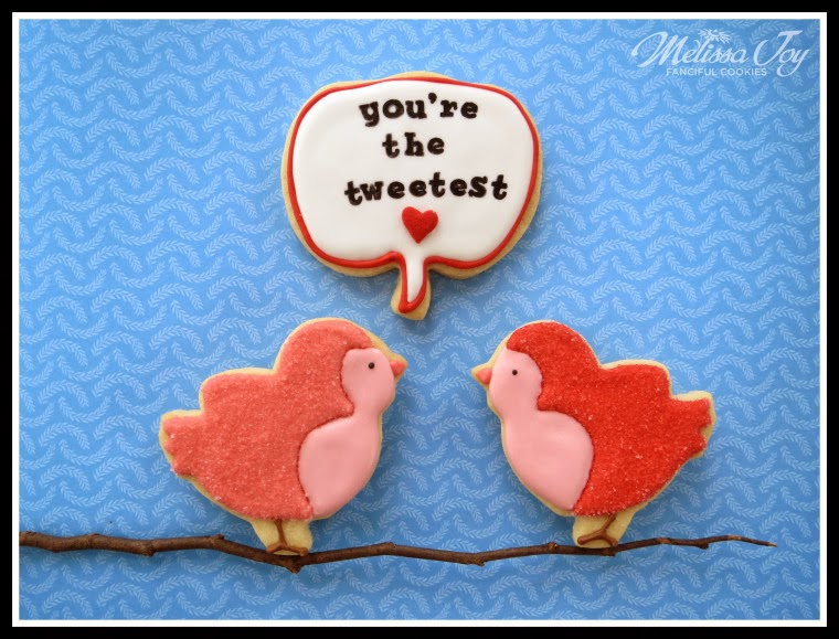 Valentines Day Speech Bubbles Cookies